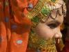 """Elaborately dressed woman, """"Spiritual Walk,"""" Pushkar Camel Fair."""