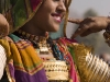 Dancer at the closing ceremonies of Pushkar Camel Fair.
