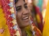 Woman watching the closing ceremonies of Pushkar Camel Fair.