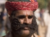 Among the events was a mustache competition, I missed the actual event but I'm pretty sure this was the winner, Pushkar Camel Fair.