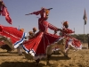 Dancers at the closing ceremonies of Pushkar Camel Fair.
