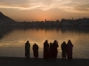 Pilgrims at the sacred lake, Pushkar.
