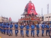 Moving the carts in to position during preparations for the Rath Yatra in Puri