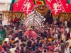 Balabhadra is carried  on to the Taladhwaja Rath, Rath Yatra, Puri