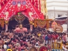 Lord Jagannath being carried on to the Nandighosa Rath, Rath Yatra, Puri