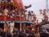 Procession back to the Jagannath Temple, Rath Yatra, Puri