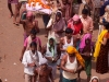 Funeral procession passes by during the Rath Yatra, Puri