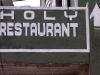 Sign for the Holy Restaurant, Reiek where else would you expect it to be but 
