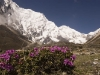 View from Tengpo on the trail to the Tashi Labtsa pass from Thame.