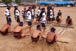 Mizo bamboo dance, known as Cheraw, during cultral show in Saiha