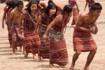Traditional Mara dance during a cultural program in Saiha
