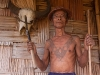 Konyak man with traditional chest tattoo Shianghawamsa, Nagaland