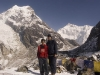 Me and my guide Bhim at Goecha La (4950 m, 16,335 ft).
