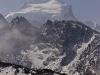 Snow capped peaks near Goecha La.
