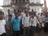 Group of guys I hung around and talked to outside the Janaki Mandir, Janakpur, Nepal.
