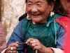 Ladakhi woman at chairing ceremony of the new Rimpoche at Spituk Monastery.