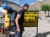 Me with the massive tent (yellow bag) strapped to my backpack, heading off to climb Stok Kangri