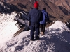 Karin & Jeff heading down from the summit of Stok Kangri