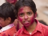 Kids celebrating Holi, Madurai.