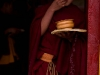 Young monk eating breakfast, Tawang Gompa