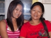My dinner host and her mother Tlabung