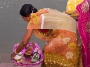 Wedding ceremony rituals at tank near Tripura Sundari Temple, Matabari