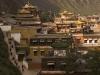 Pilgrims circumambulating Labrang monastery, Xiahe.