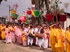 Devotees waiting to dance at Sri Govindaji Temple for  Yaoshang, Imphal