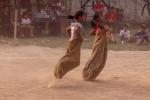Sack race during sports festival, Yaoshang