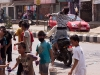 Water wars on the streets of Imphal for Yaoshang.