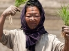 Apatani woman doing a dance for the camera, Ziro