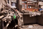 A ruined house after the flash flood in Leh, August 6 2010