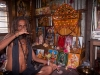 "The ""Drunken Sadhu"" drinking whiskey, Agartala"