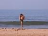 Yoga on the beach, Agonda Beach, Goa