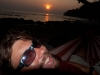 Me watching the sunset on beach #7, Havelock Island