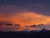 Stok Range at sunset from Shanti Stupa