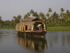 Tourist Houseboat on backwaters near Alleppey.