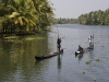 Backwaters between Alleppey and Kollam.