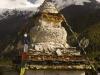 Stupa in Braga, Annapurna circuit trek.