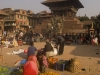 Selling vegetables in Taumadhi Tole, Bhaktapur.