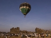 Crowd of people watching a hot air balloon at the Bidar. Festival.