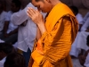 Monk prays at Bodhgaya