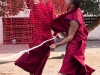 Yong Monks at play Sera Monastery, Bylakuppe