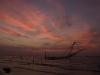 Sunset and Chinese fishing net, Fort Cochin.