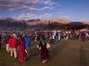 People arriving for the Dalai Lama's teachings in Leh