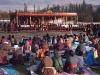 Stage for the Dalai Lama's teachings in Leh