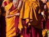 Dalai Lama arriving to teachings
