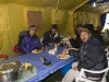 Me, in the dinning tent at Everest Base Camp with Kili, Mustafa (Jordanian climber), and Brady (Kiwi girl who was helping with a research project on effects of high altitude).