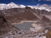 "View towards Cho Oyu and 5th lake while climbing ""Frostbitten Fingers,"" Gokyo Valley"