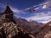 View up the Gokyo Valley while hiking towards Phortse from Gokyo